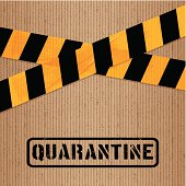 Cardboard and warning adhesive tape background. Layered EPS10 with global colors and transparencies. Individual textures and elements. Hi-res JPG and AICS3 files included. Related images linked below. http://i161.photobucket.com/albums/t234/lolon5/packagingelements_zps82cd4008.jpg