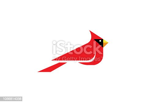 Cardinal Bird Logo Design Illustration