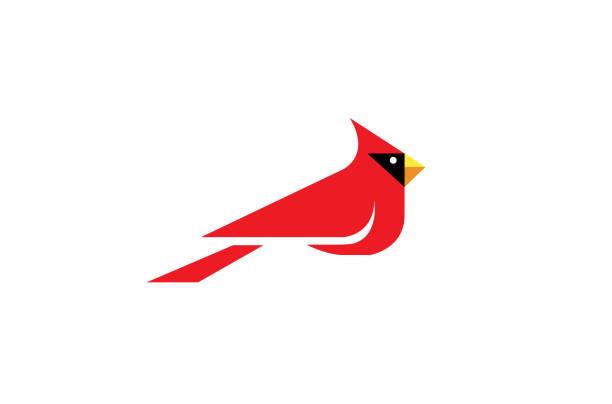 Cardinal Bird Logo Cardinal Bird Logo Design Illustration bird icons stock illustrations
