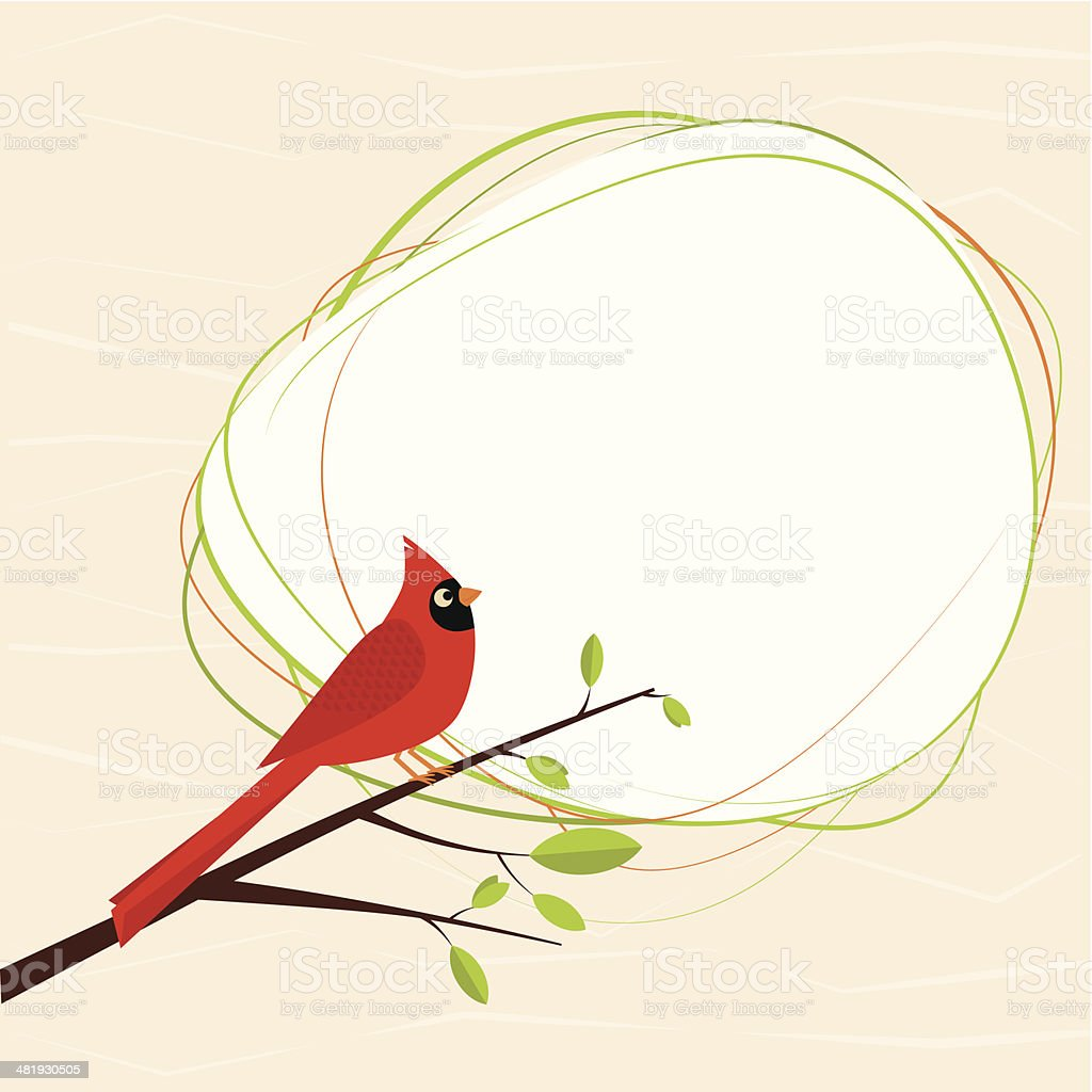 Cardinal bird royalty-free stock vector art