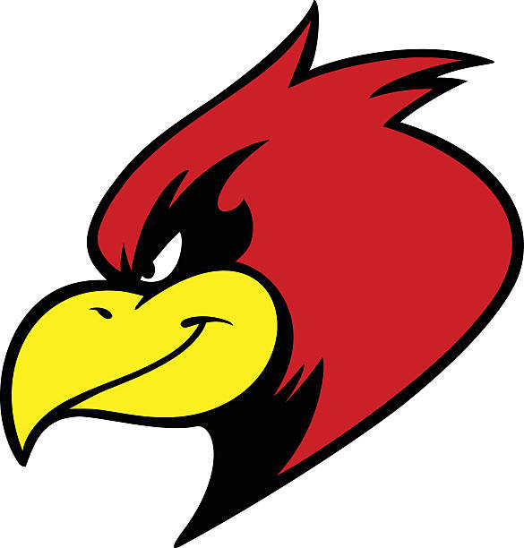 cardinal mascot - cardinal mascot stock illustrations, clip art, cartoons, & icons
