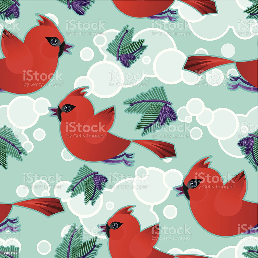 Cardinal Pattern - Royalty-free Animal Themes stock vector