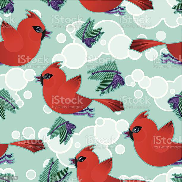 Cardinalmuster Stock Vektor Art und mehr Bilder von Bildhintergrund
