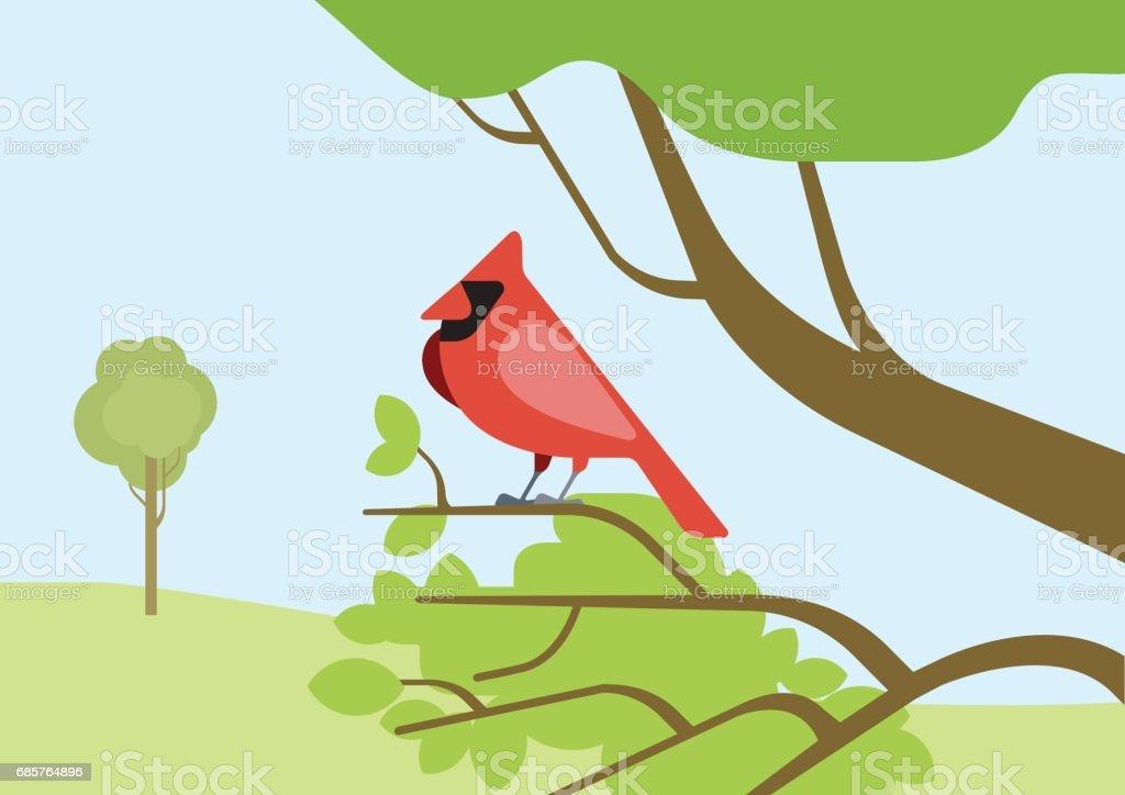 Kardinal röd fågel platt design tecknade vektor vilda djur fåglar. Flat zoo natur barn samling. royaltyfri kardinal röd fågel platt design tecknade vektor vilda djur fåglar flat zoo natur barn samling-vektorgrafik och fler bilder på barn
