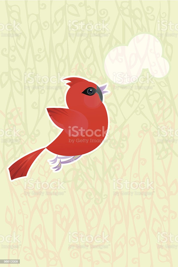 Cardinal - arte vectorial de Aire libre libre de derechos