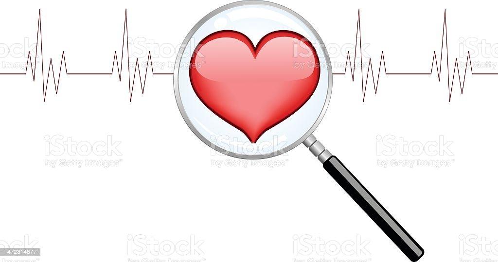 Cardio Close Up royalty-free stock vector art