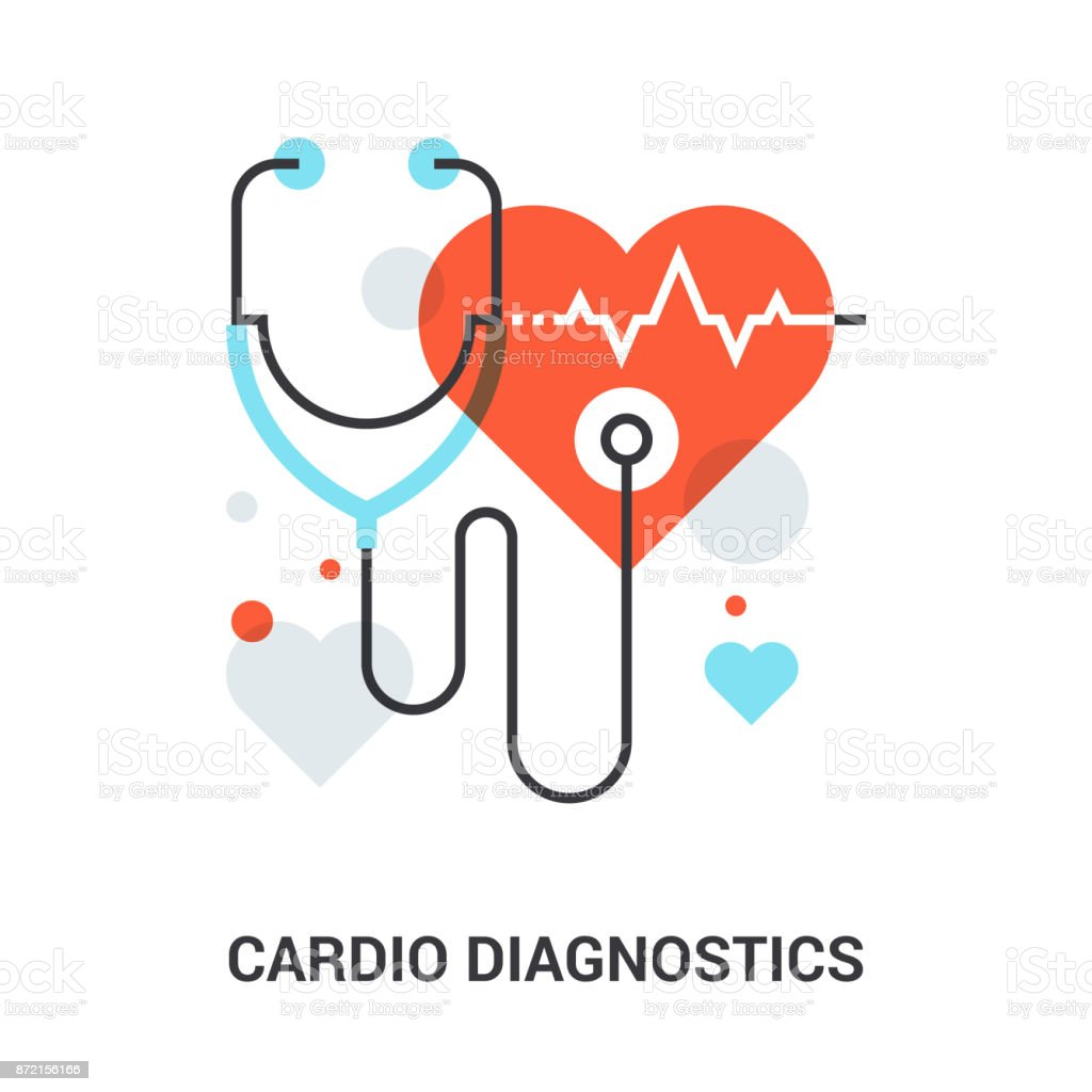 cardio diagnostics concept vector art illustration