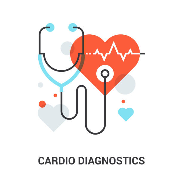 Herz-Kreislauf-Diagnostik-Konzept – Vektorgrafik
