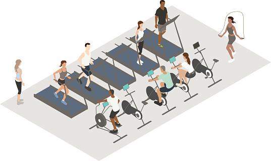 Cardio Workout Illustration