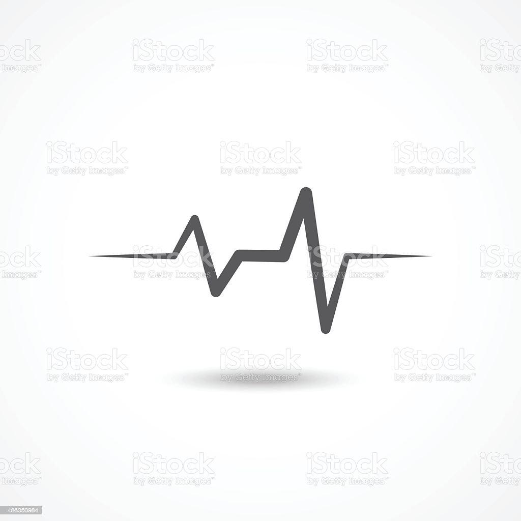 Cardiogram icon vector art illustration