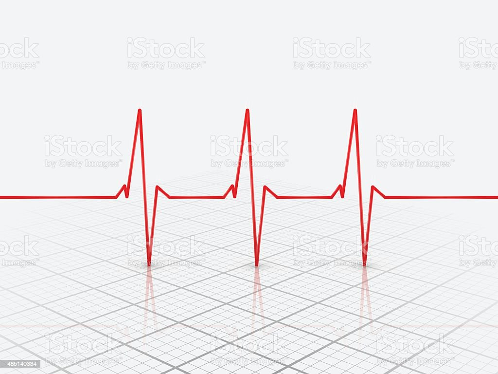 Cardiogram Icon,vector vector art illustration
