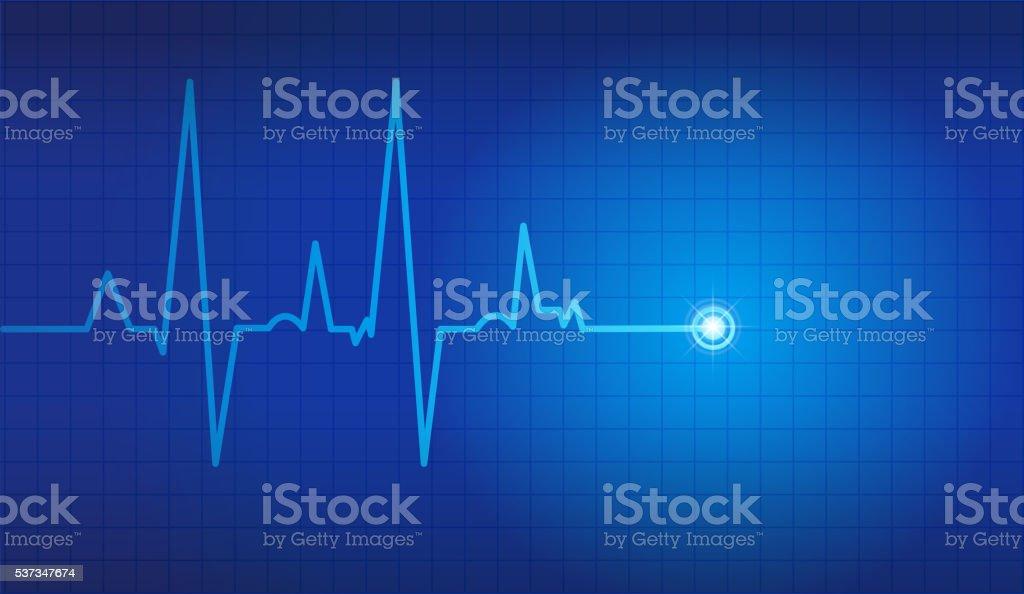 cardiogram vector background vector art illustration