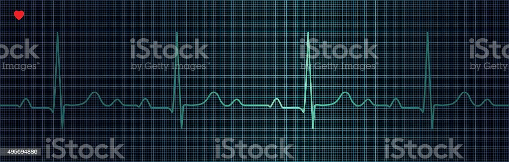 Cardiogram vector art illustration