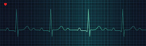 Cardiogram Cardiogram on the monitor. PDF file included. taking pulse stock illustrations
