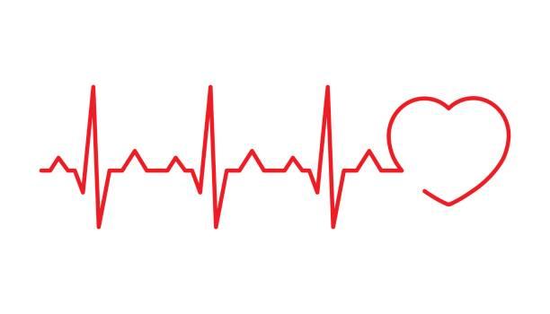 cardiogram vector - ecg stock illustrations, clip art, cartoons, & icons