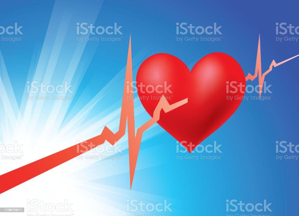 Cardiograph royalty-free stock vector art