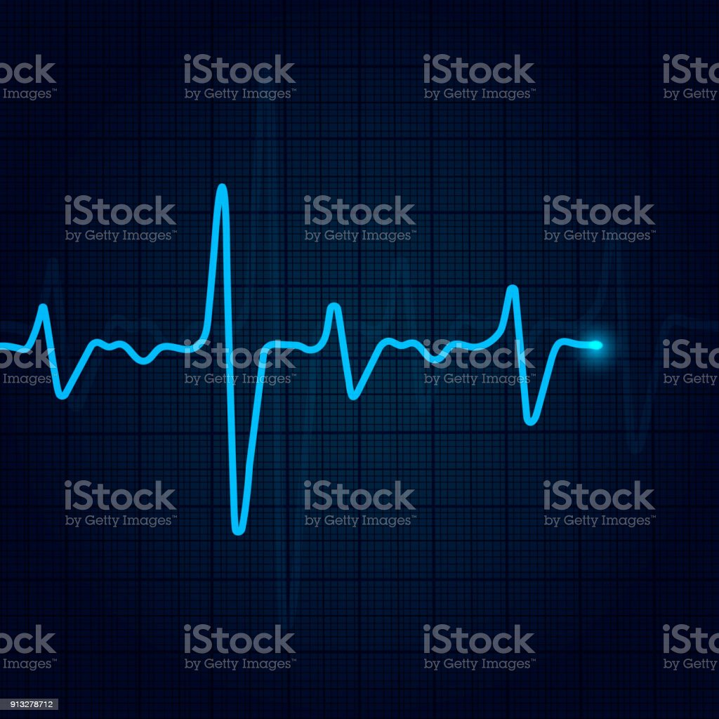 Cardiology Concept With Pulse Rate Diagram Medical Background With