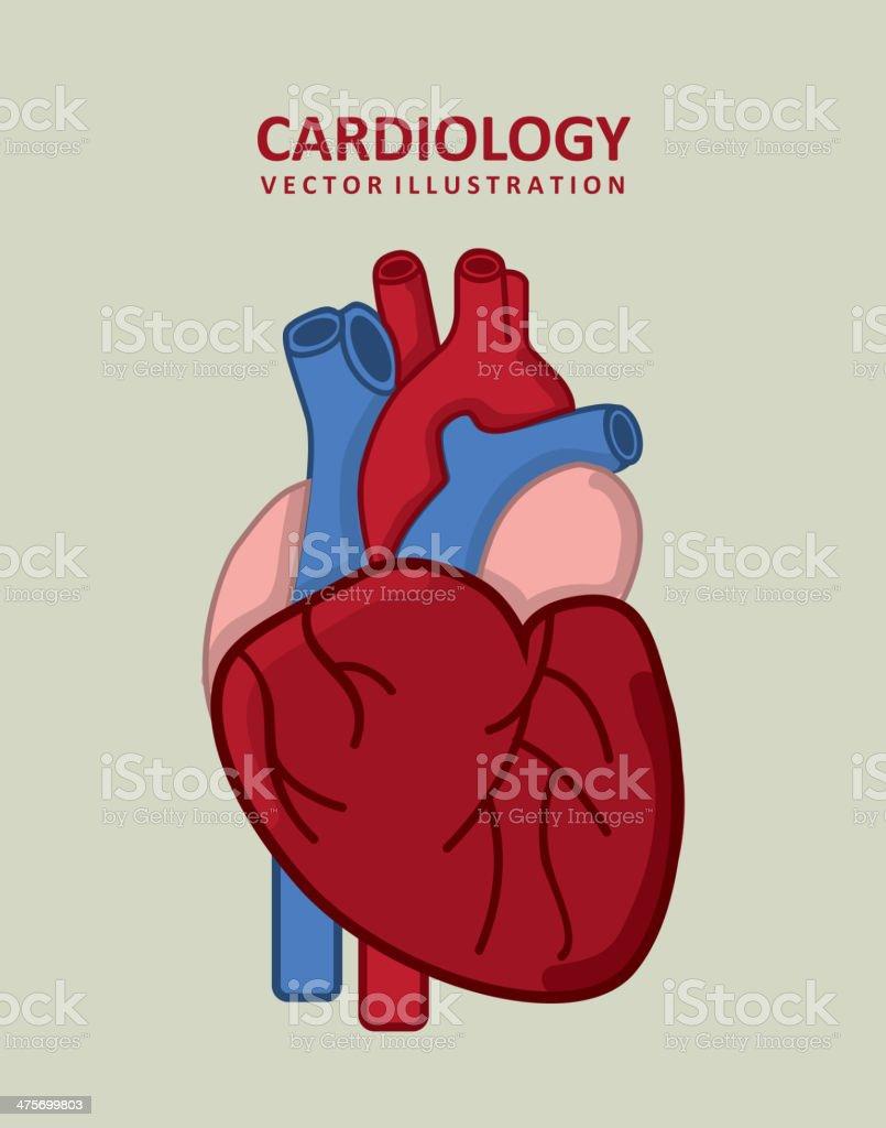 Cardiology Design royalty-free stock vector art