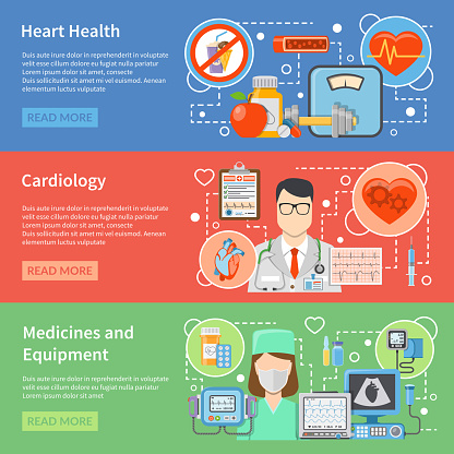 cardiology flat banners
