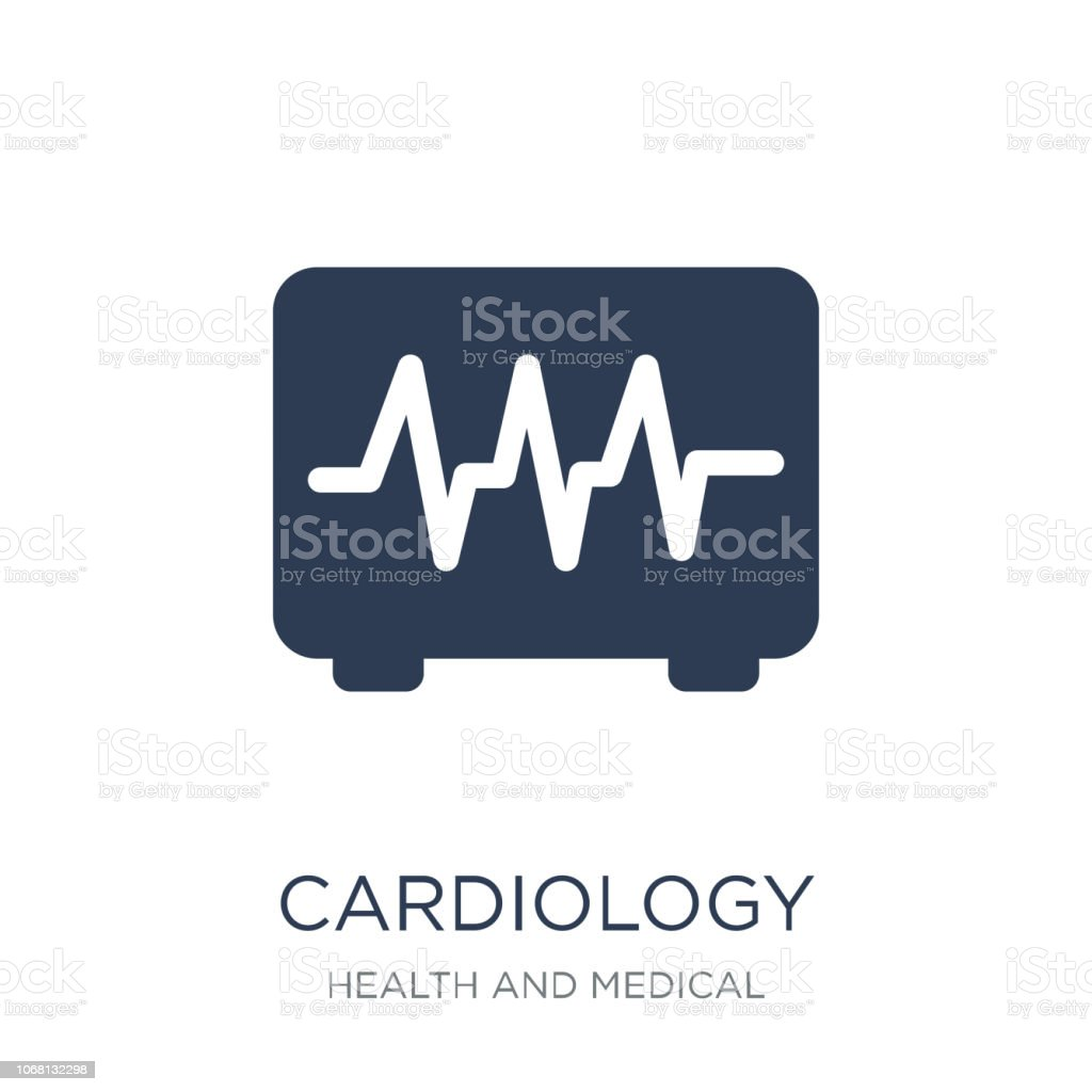 Cardiology icon. Trendy flat vector Cardiology icon on white background from Health and Medical collection vector art illustration