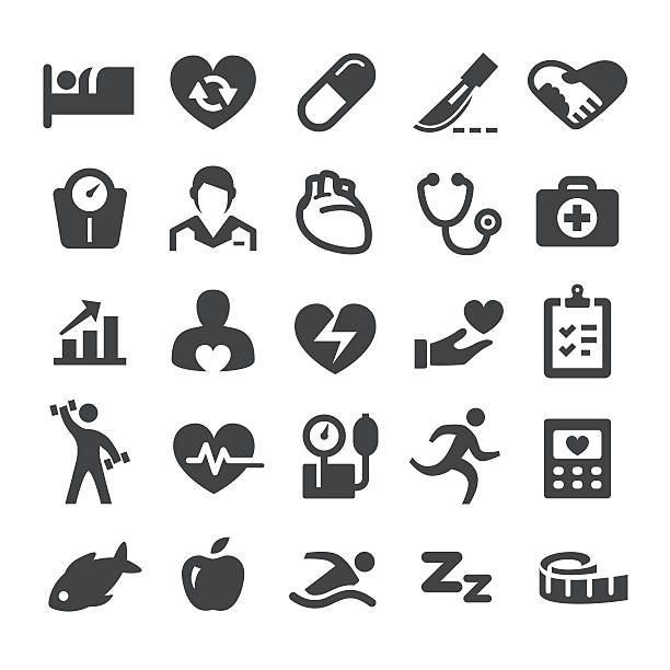 Cardiology Medicine Icons - Smart Series View All: medical technical equipment stock illustrations