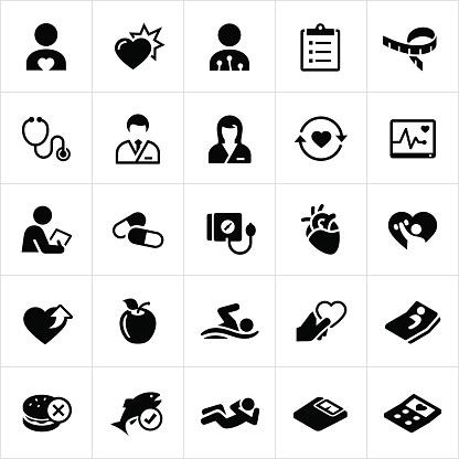 Cardiology Medicine Icons