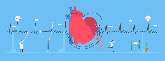 Cardiology Vector Illustration This Heart Disease Problem Called Arrhythmia  The Bad Periodic Signal Can Be Used For Diagnosis And Analysis Of A Failure  System Stock Illustration - Download Image Now - iStock