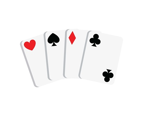Cards icon isolated on white background.