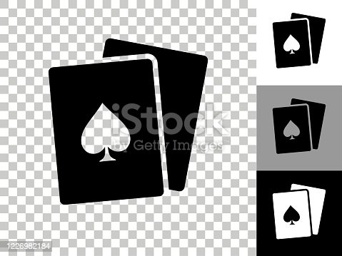istock Cards Icon on Checkerboard Transparent Background 1226982184
