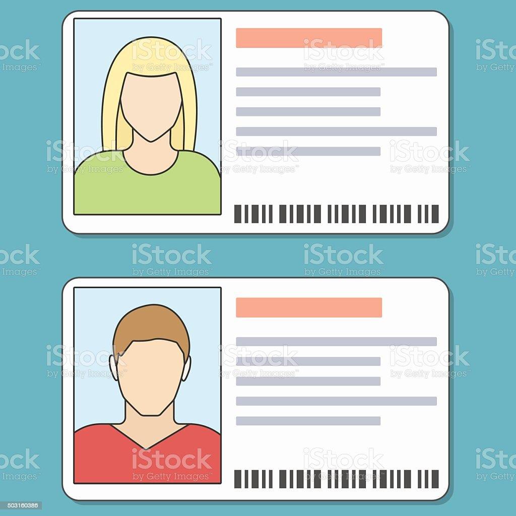 ID Cards Illustration vector art illustration