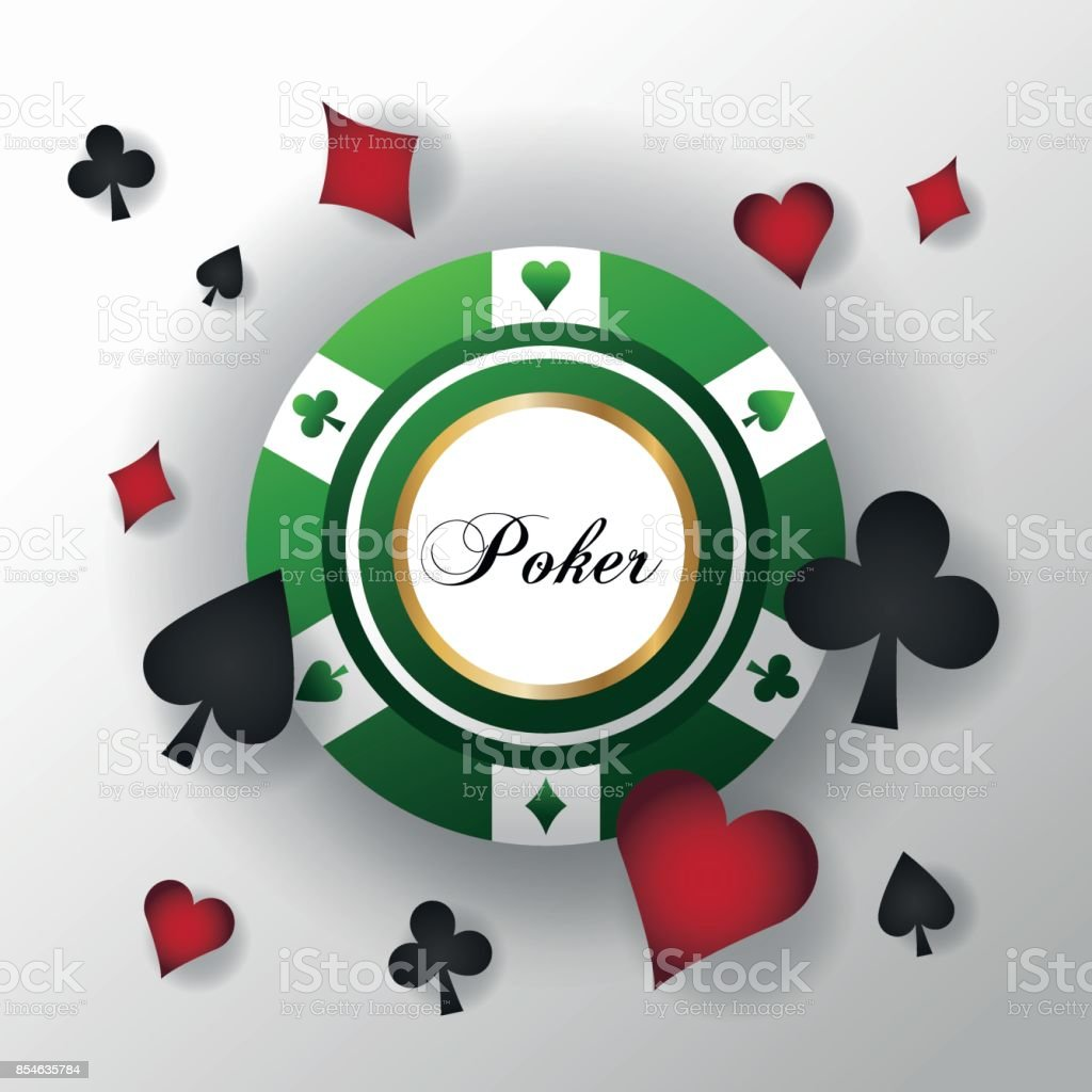 Cards Symbols Of Poker And Chip Design Stock Vector Art More
