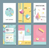 Cards with Geometric Elements
