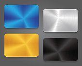 Cards with metal background. Blank card for design