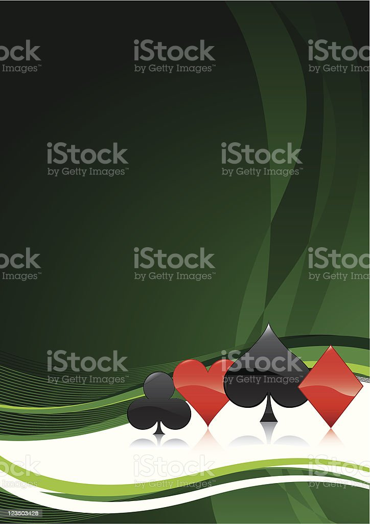 Cardsuits background royalty-free stock vector art