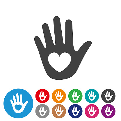 Care and Hand - Graphic Icon Series