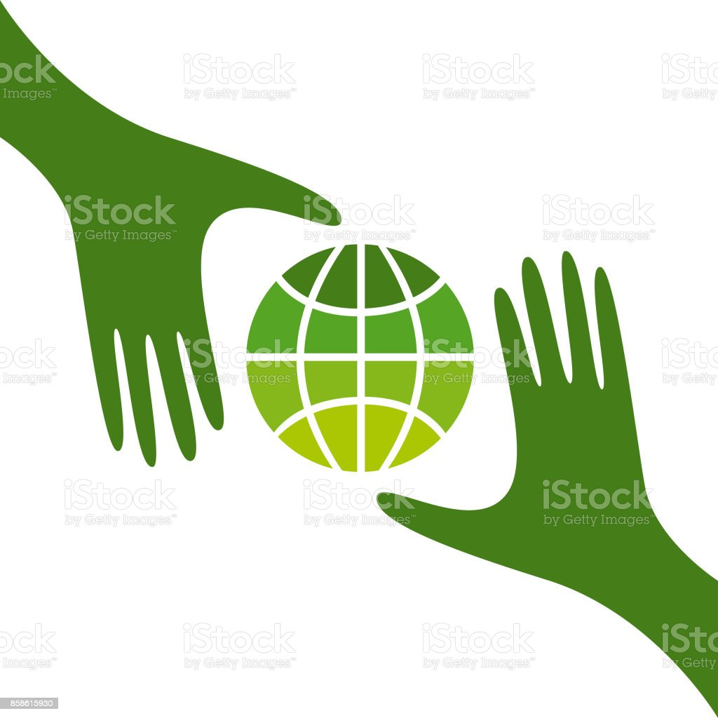 Care for a green planet vector art illustration