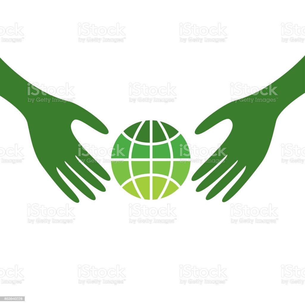Care for plantet Earth vector art illustration
