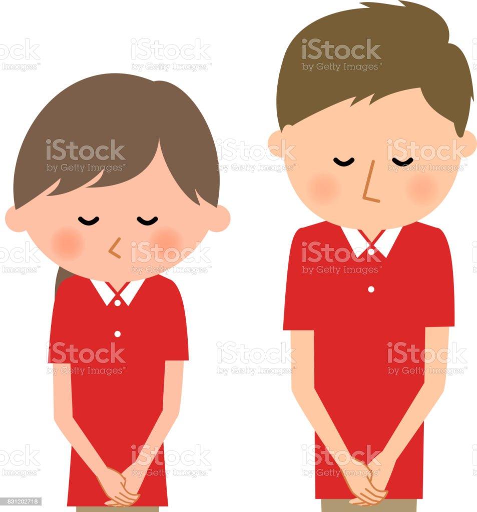 Care giver,Nursing assistant,Bow vector art illustration