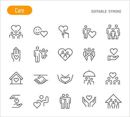 Care Icons - Line Series - Editable Stroke