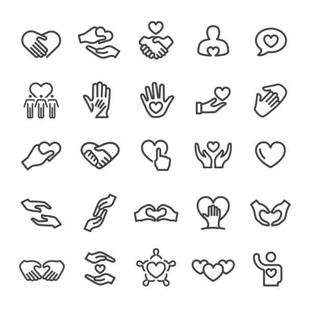 ケアアイコン - スマートラインシリーズ - 介護点のイラスト素材/クリップアート素材/マンガ素材/アイコン素材