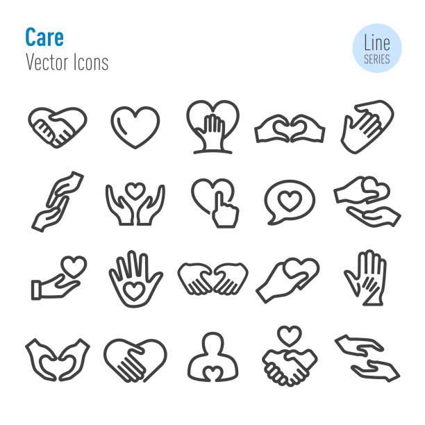 介護のアイコン - ベクトル ライン シリーズ - 介護点のイラスト素材/クリップアート素材/マンガ素材/アイコン素材