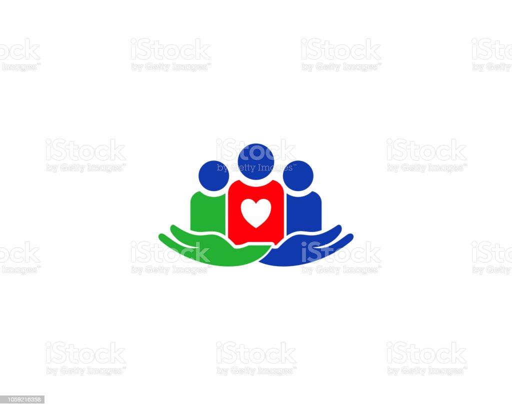 logo de soins - Illustration vectorielle