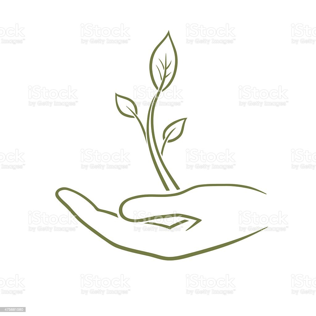 Care of nature vector art illustration