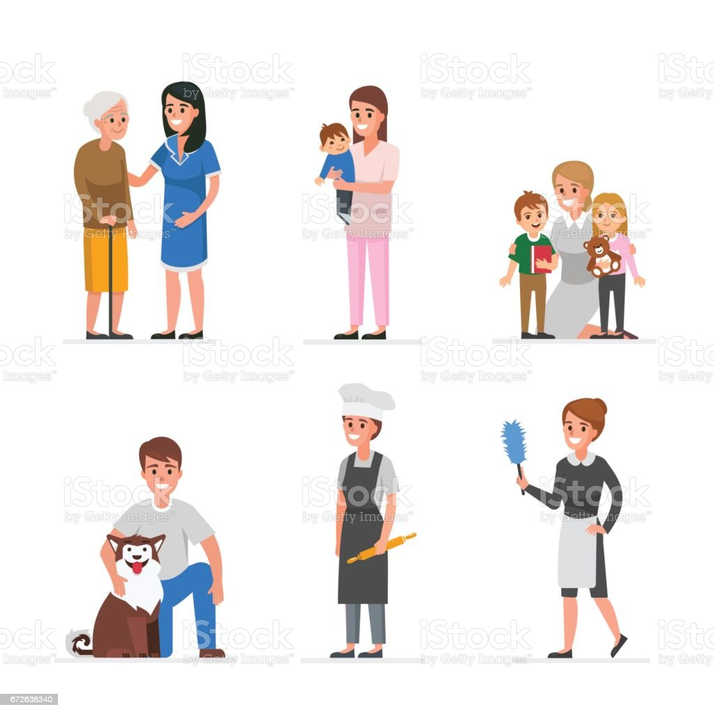 Care services vector art illustration