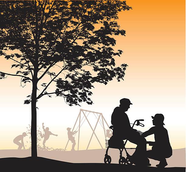 Care Taker In The Park – Vektorgrafik