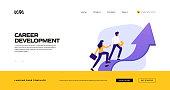 Career Development Concept Vector Illustration for Landing Page Template, Website Banner, Advertisement and Marketing Material, Online Advertising, Business Presentation etc.