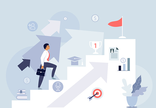 Career development illustration.