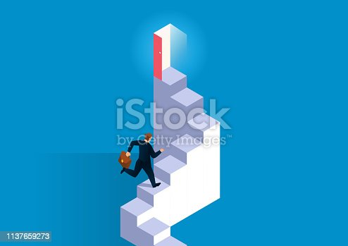 Career development, the staircase leading to the door to success