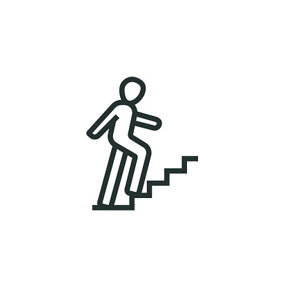 Career Ladder Line Icon