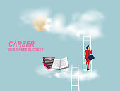 istock Career ladder 1332504512